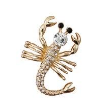 OneckOha модное украшение со стразами броши в виде скорпиона брошь с животными Ювелирная брошь