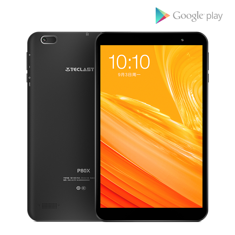 Teclast P80X 8 pouces 4G tablette Android 9.0 SC9863A IMG GX6250 Octa Core 1.6 GHz 2 GB RAM 16 GB ROM double caméras tablette pc