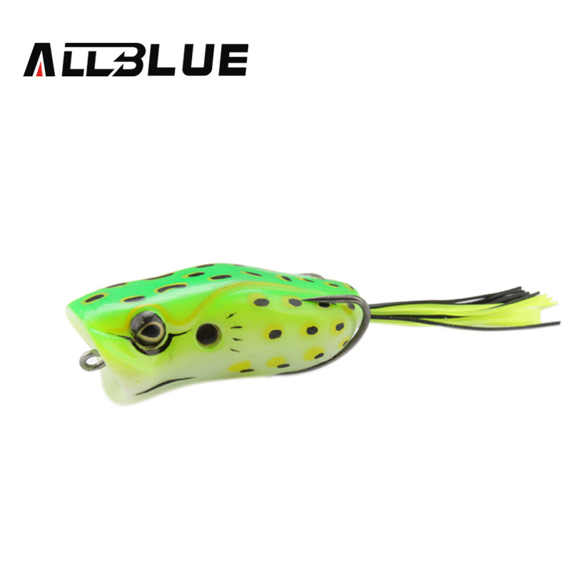 Allblue high quality popper frog lure 60mm 14g snakehead for Frog lures for bass fishing