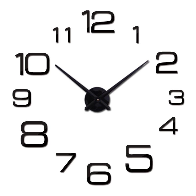 New  Wall Clock Modern 3d Big Quartz Watch Clocks Living Room Large Clocks Home Decoration Still Life Circular Diy Stickers