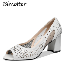 Bimolter Women Sandals Gladiator High Heels Pumps Female Spring Summer Genuine Leather Shoes Fashion Ladies Peep Toe FB030