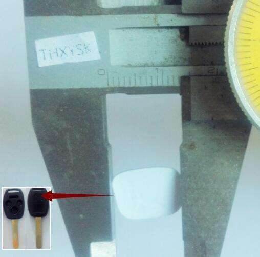 20PCS/LOT Replacement For HONDA Car emblem insignia 13*11 mm Aluminum DIY  metal sticker car key LOGO For honda key LOGO-in Car Key from Automobiles &