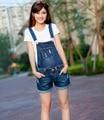 2016 летние новых Корейских Женщин Тонкий джинсовой керлинг джинсовые шорты съемный ремень Комбинезоны ДЖИНСЫ Шорты