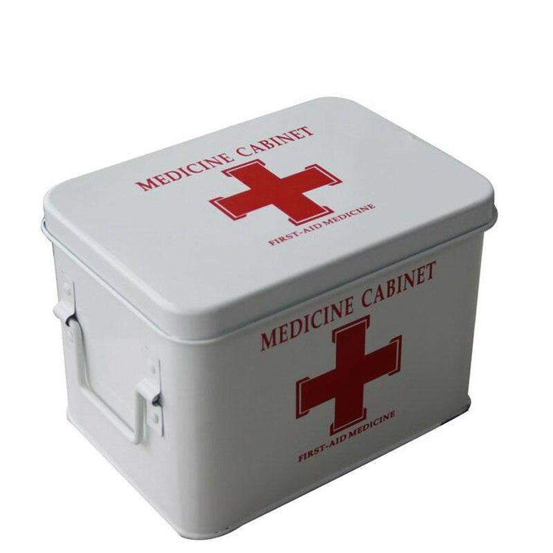Trousse de premiers secours familiale trousse de secours Portable Camping survie d'urgence médicament médical Bandage maison voiture voyage boîte de rangement DJB006