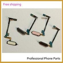 Original botones de tecla de inicio flex sensor flex ribbon cable para samsung galaxy note 4 teléfono móvil piezas de repuesto