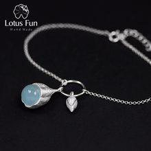 Lotus Fun boucles d'oreilles en argent Sterling 925, pierre naturelle, bijoux fins, fait à la main, styliste, boutons de boucles d'oreilles pour femmes