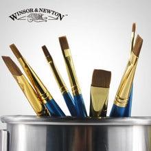 8 шт. Winsor & Newton Колонковая волосы короткие плоской головкой гуашь кисти. акварель живопись кисти, короткие деревянной ручкой,