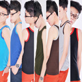 Les Lesbian Tomboy Chest Binder Undershirt Slim Fit Vest Tops XS-XXL