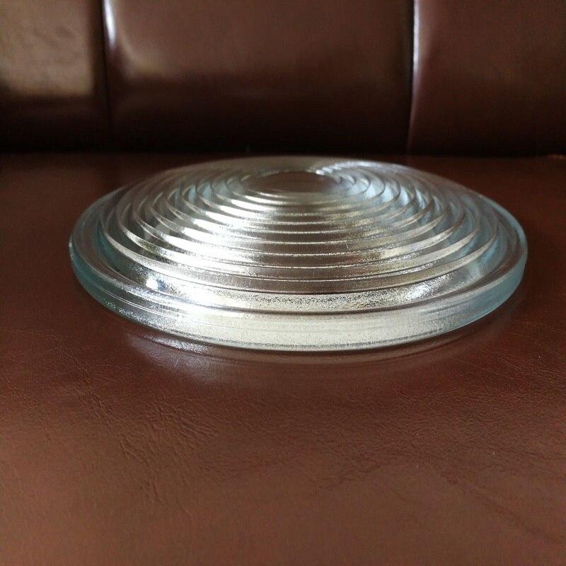 Diameter250mm EFL120mm Round Glass Spotlight Fresnel Lens for Stage Lamp Magnifier Threaded Lenses doumoo 330 330 mm long focal length 2000 mm fresnel lens for solar energy collection plastic optical fresnel lens pmma material