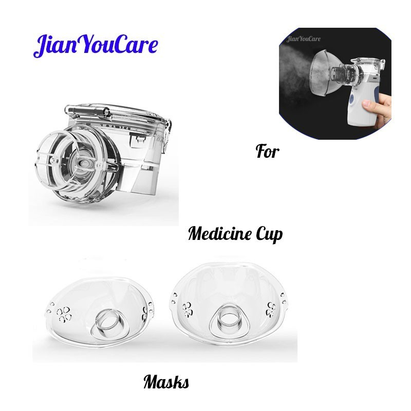 JianYouCare Accessories medicine cup and masks for child kids and adult for Health Care Mini Handheld