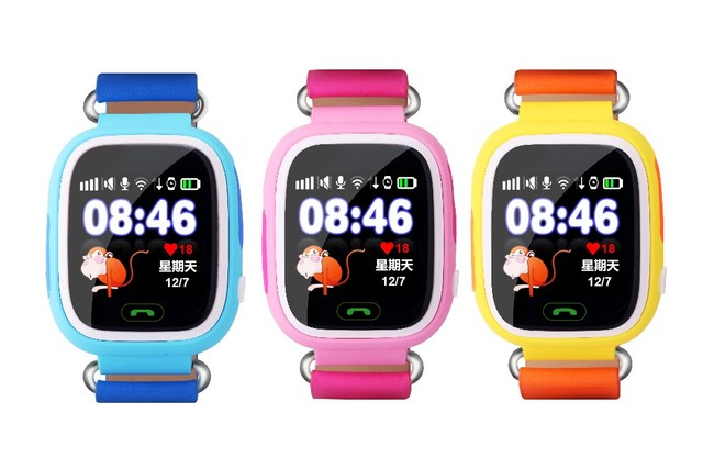 1.22inch HD Touch Screen SOS Call Wristwatch Safe GPS/LBS Location Finder Tracker for Kid Child Smart Watch Anti Lost Monitor