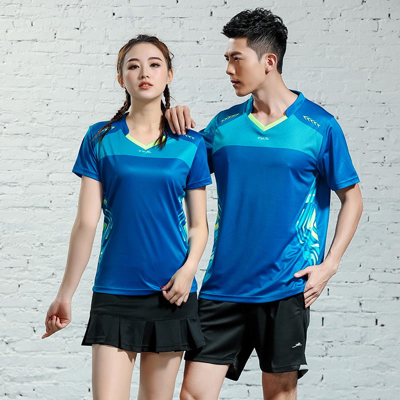 2019 Tennis Shirt Badminton Sport Shirt Running Training Shrits Quick Dry Breathable Men Women Table Tennis Jersey Bodybuilding(China)