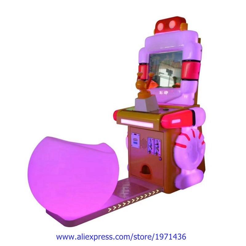 Guangzhou Amusement Equipment Arcade Machine Gun Shooting Drive Car Racing Game Machine For Kids