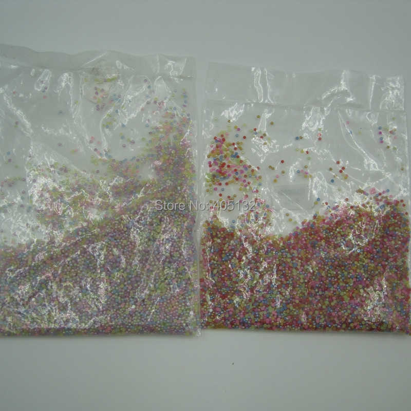 """משלוח חינם 10000 יח'\שקית 1.5 מ""""מ OD-24-1.5mm mix-צבע שרף קישוט אמנות ציפורן פנינת חצי כדור"""