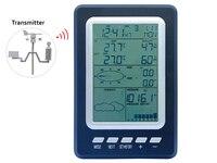 Professionnel 433 mhz Température Humidité Pluie Pression Vent Vitesse Vent Direction Sans Fil Station Météo Solaire Alimenté WS1030