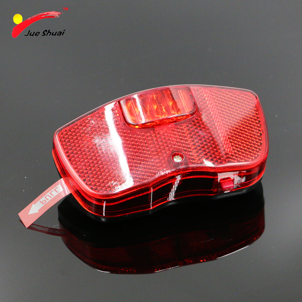 3 LEDs Red Rear Light for Bike Bicycle Rear Rack Carrier Safety Warning Lamp Battery Bike Bicycle Lighting Cycling Accessories