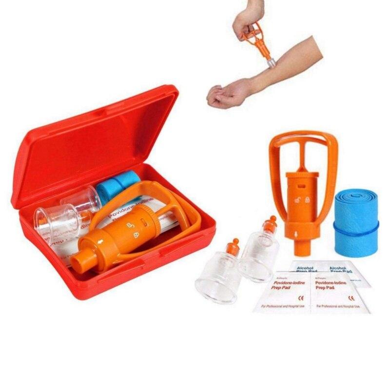 1 Set Camping Survivor Venom Extractor Suction Pump Kit Safe Bite Sting First Aid Kit Safety Venom Protector Snake Bees Bite