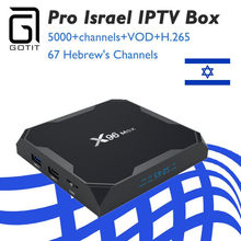 GOTiT Israel X96 Max Android 8.1 Smart TV Box Amlogic S905X2 Dual-WIFI + Pro Nordic Sweden Dutch Germany Ex-yu IPTV Box(China)