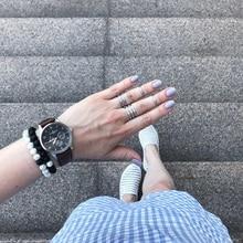 Distance Bracelet Classic Natural Stone White and Black Yin Yang Beaded Bracelets BE01
