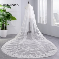 New Arrival Lace Edge Bridal veil 2019 Velo de novia wedding veil with comb Wedding accessories accesorios para novia