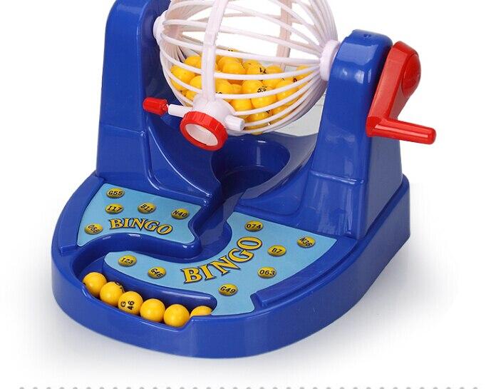 Коробка bingo машины 25.5*21*15 см предусмотрена настольная игра лототрон и bingo мяч набор bingo игры для дети Семья игрушки ...