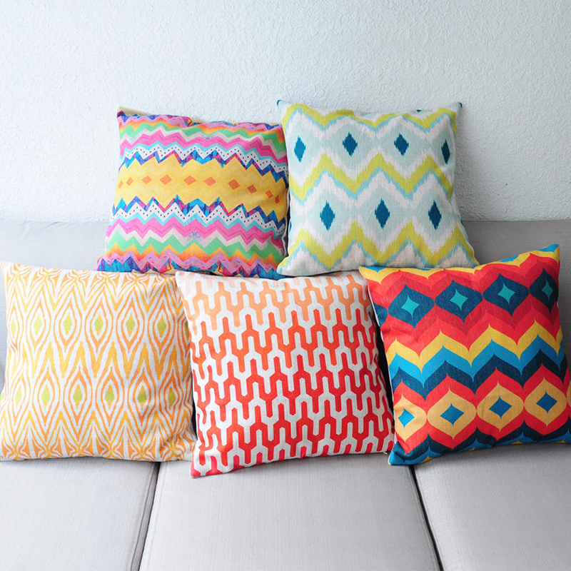 Incroyable Abstract Aztec Geometric Pattern Cushion Covers Tribal Prints Rainbow  Ethnic Plaid Decorative Sofa Living Room Throw Pillow Case