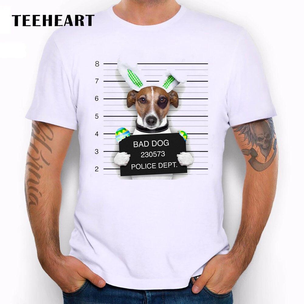 Wanted Bad Dog - Mugshot Brazilian Terrier Bunny Funny Joke Men T Shirt Tee