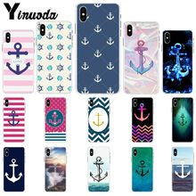 Yinuoda Anker beautiful birds and boat anchor blue Novelty Fundas Phone Case for iPhone X XS MAX 6 6S 7 7plus 8 8Plus 5 5S XR(China)