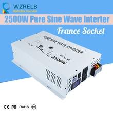 цена на Reliable Peak 2500W Pure Sine Wave OFF Grid Inverter DC12V/24V to AC220V Power Inverter Converter Houseuse Solar System