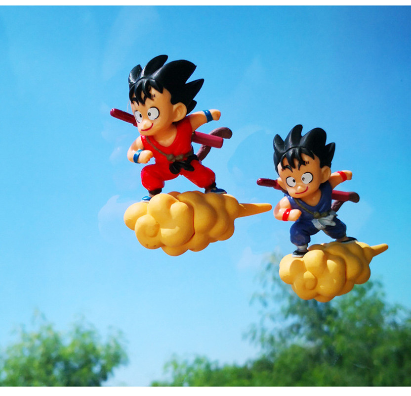 1Pc Q Version Super Flying Dragon Ball Z Son Goku Action Figure Model Toys Car Accessories With Chassis Toys Gifts For Children in Action Toy Figures from Toys Hobbies