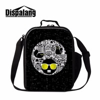 Dispalang Children Cartoon Lunch Bags Painted Colorful Bolsa Termica Women Portable Picnic Thermal Bag Food Storage Lunch Box