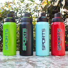 500ml/700ml Top quality Double wall Vacuum thermal Stainless steel Portable Sports Water bottle for fishing hiking bicycle