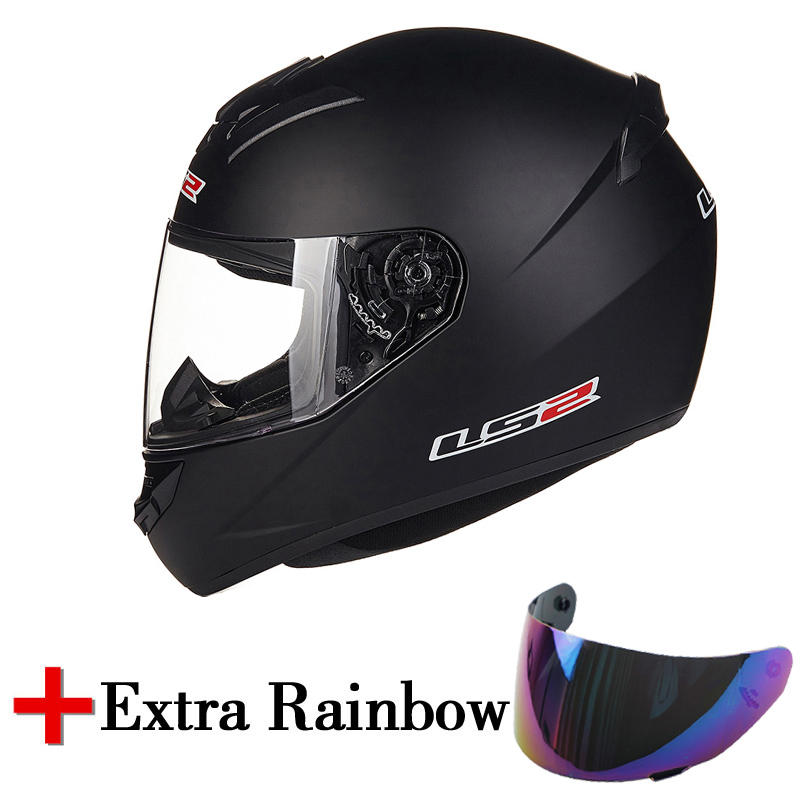 LS2 FF352 motorcycle helmet fashion full face moto helmet with a extra rainbow lens high quality