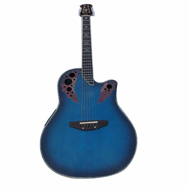 Polegada tortoiser 41 vinha Rosewood Guitarra Guitarra guitarra de madeira Para O Botão de Prata Fechado Treinamento Conjunto Instrumento Musical Guitarra