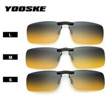 YOOSKE поляризационные солнцезащитные очки без оправы, очки на клипсах для вождения, очки для ночного видения, солнцезащитные очки для мужчин, флип-очки для близорукости, UV400