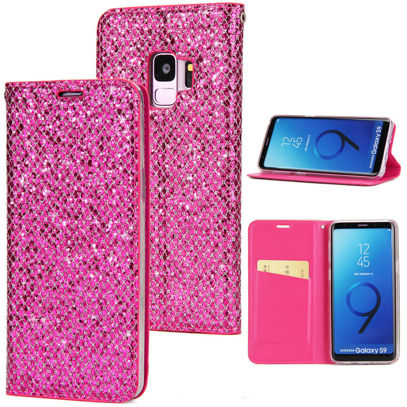 Bling Wallet Phone Etui for Cover <font><b>Samsung</b></font> <font><b>Galaxy</b></font> S9 <font><b>Case</b></font> Coque <font><b>Samsung</b></font> Note 8 <font><b>Cases</b></font> for <font><b>Samsung</b></font> S9 S8 <font><b>S7</b></font> S6 Edge Cover S9 Plus image