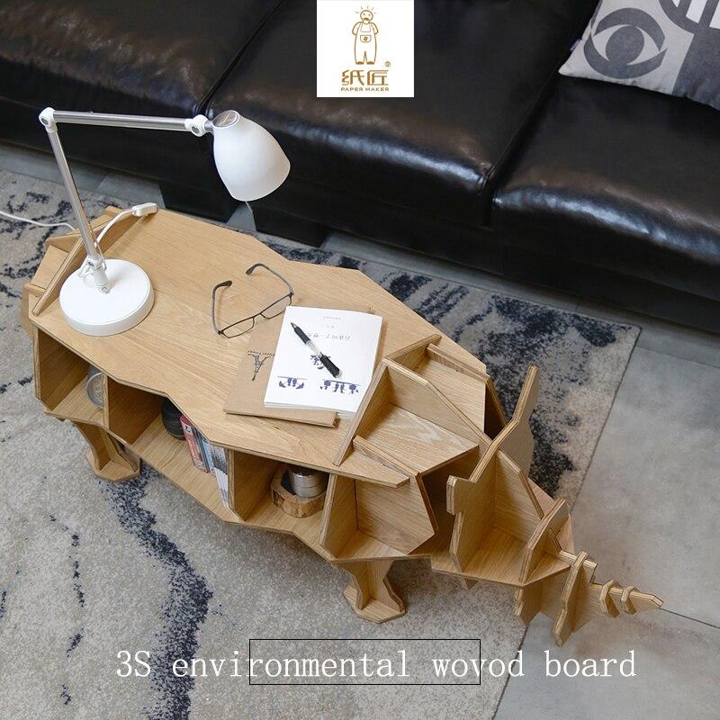 2017 environmetal 3d Puzzle CreatIve DIY wood Holder for Desk Animal Stationery Desktoprhinoceros Organizer Decoration Gifts