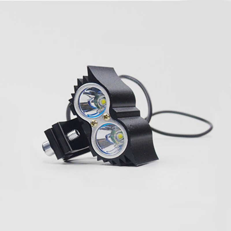 2pcs Motorcycle Headlight led Owl 3LED 2LED Lamp Motorbike Head Lights 12V 20W 1200LM Autocycle lamp bulb super bright light