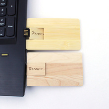 Wooden Pen Drive Credit Card Model