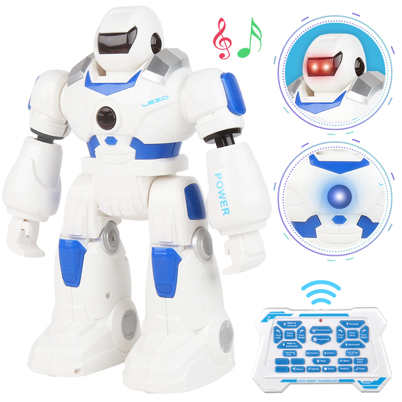 Jack Police RC Robot USB charge danse histoire Action Figure télécommande multifonction contrôle Robot jouet lumineux à LED pour enfants cadeau