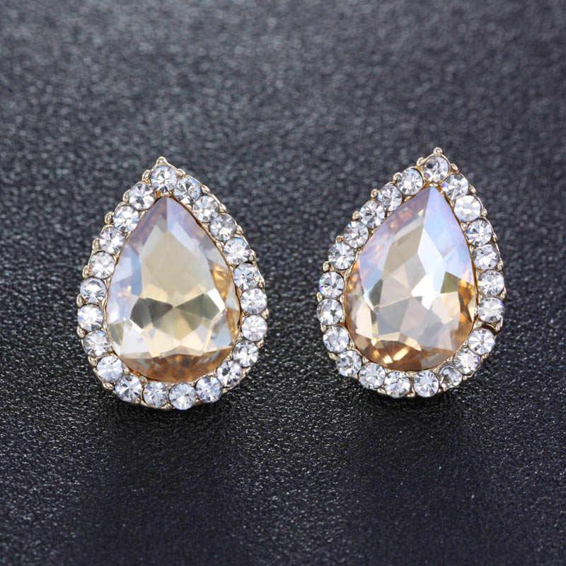 e5d461fe7d93 Flola большие золотые серьги хрустальные серьги для Для женщин модная  одежда для девочек Мода Jewelry аксессуары