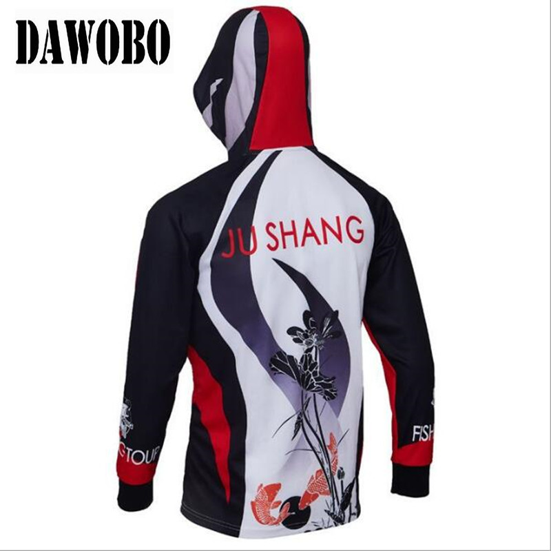 New arrival Outdoor fishing clothes breathable quick dry Anti Sai UV Anti mosquit hooded long sleeve fishing Shirts in Fishing Clothings from Sports Entertainment
