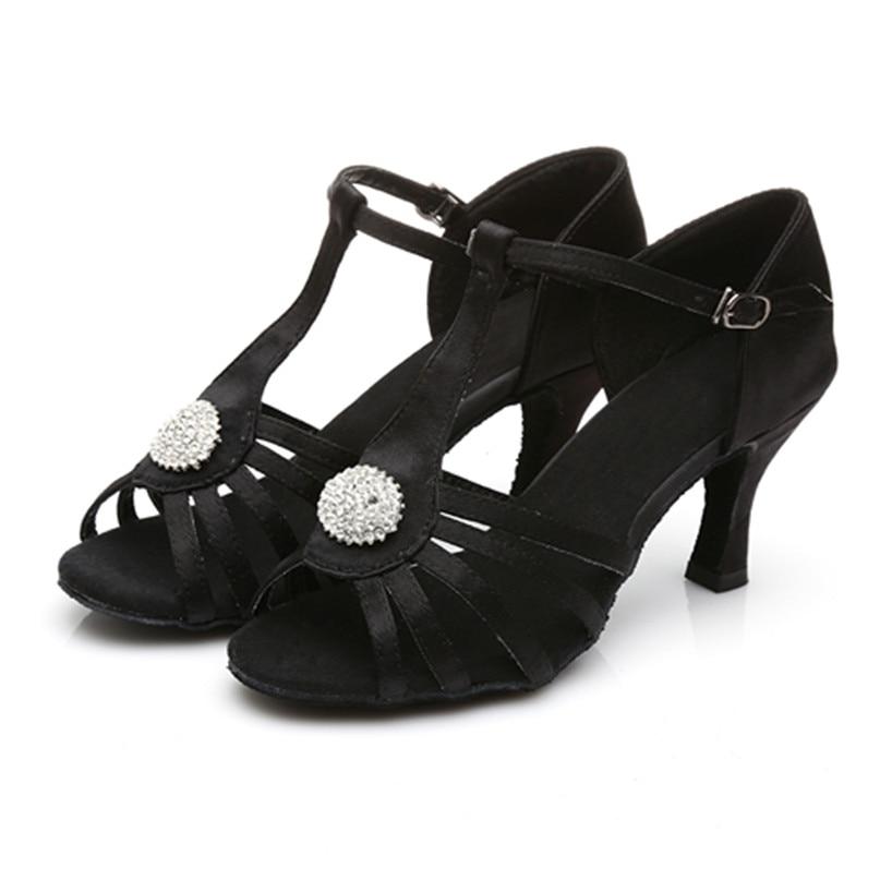 Free Shipping Black Latin Dance Shoes Woman Ballroom Dancing Shoes Salsa Dancing Shoes Zapatos De Baile Latino Mujer 226
