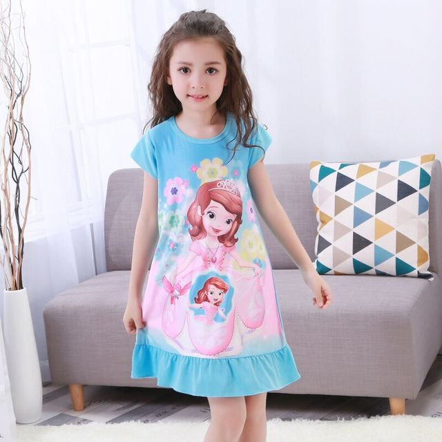 Summer Girls Princess Dresses New Listing 2018 Children Clothing Baby  Pajamas Cotton Nightgown Kids Home Cltohing Girl Sleepwear b7ceaadf4