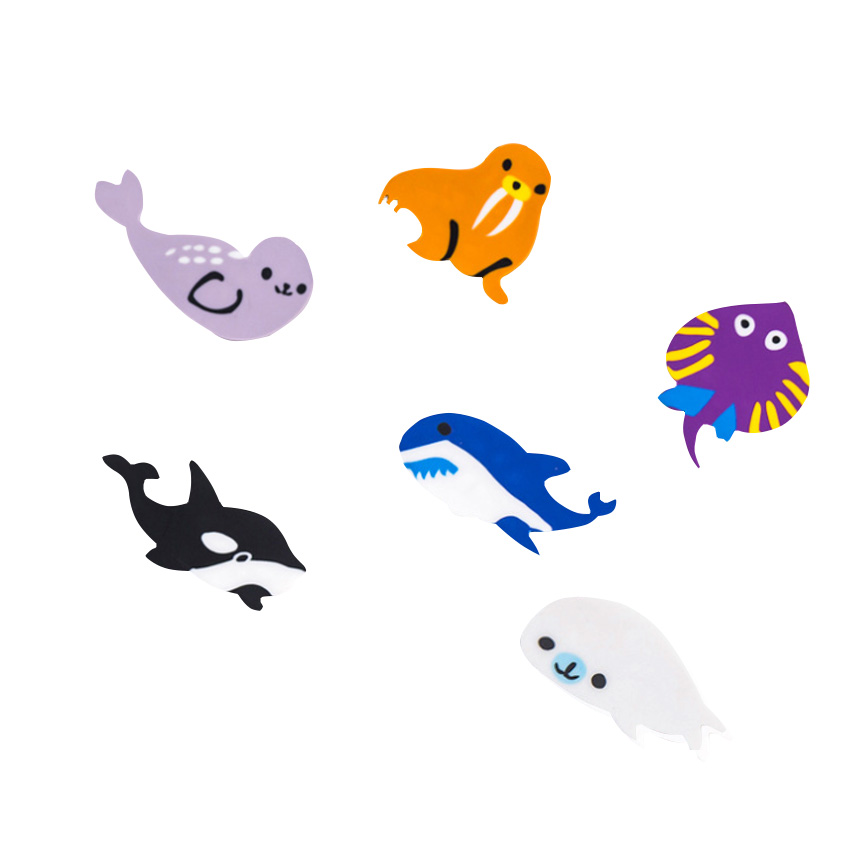 10sets/lot Happy Paradise Underwater World Sea Animals Rubber Eraser Office School Stationery Kids Writing Drawing Student Gift
