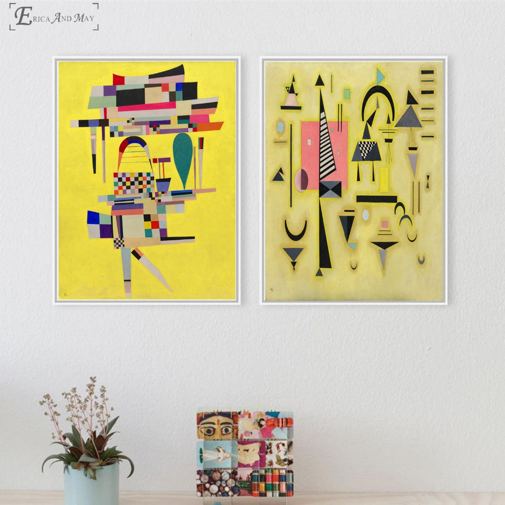 Abstract Pattern Yellow Painted Canvas Painting Posters And Prints For Living Room No Framed Wall Art Picture Home Decor On Sale