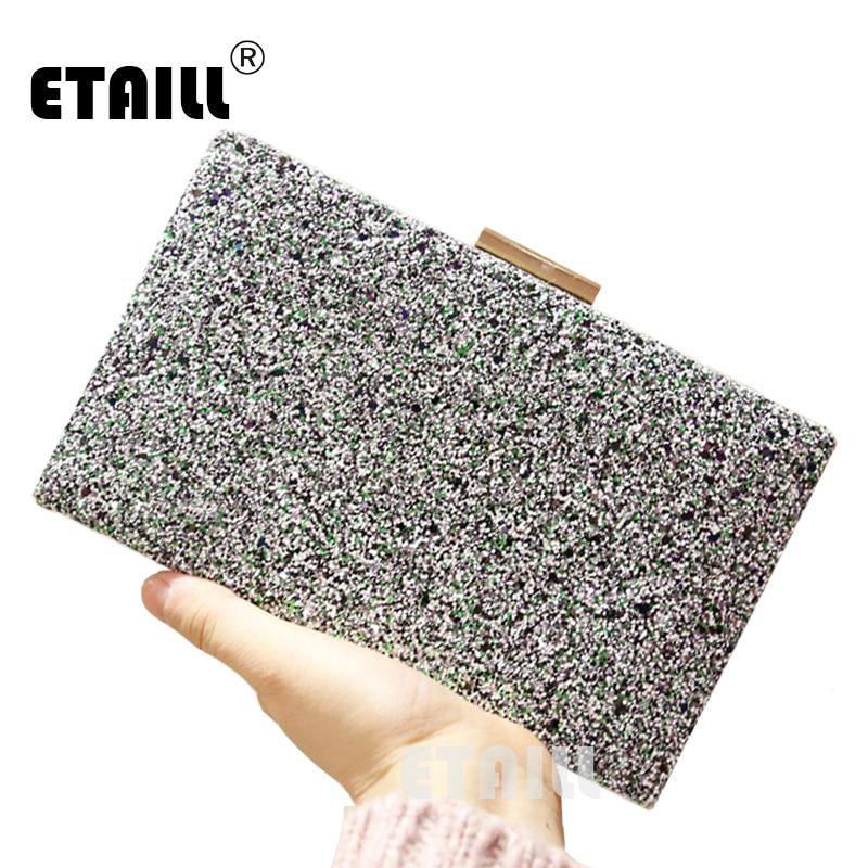 ETAILL Brand New Women Glitter Sequins Handbag Paillette Evening Party Envelope Clutch Bag Spangle Wallet Purse
