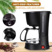 Warmtoo 5 10Cups 600ml American Style Coffee Maker Drip Stovetop Tea/Coffee Making Machine Household Office 550W