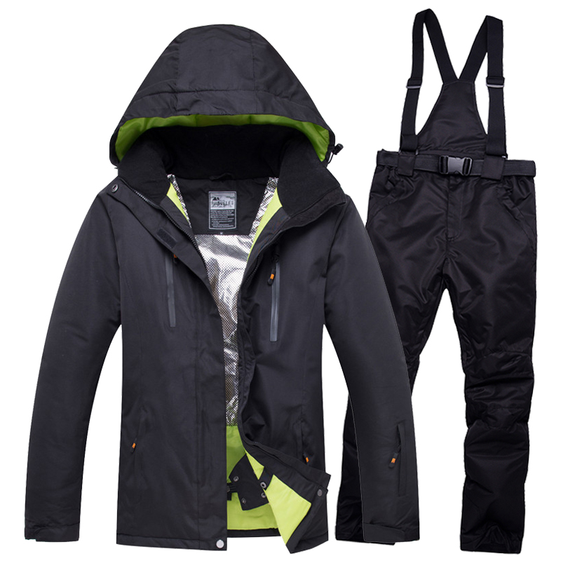 2018 NEW Lover Men And Women Windproof Waterproof Thermal Male Snow Pants sets Skiing And Snowboarding Ski Suit men Jackets new hot ski suit men winter new outdoor windproof waterproof thermal male snow pants sets skiing and snowboarding ski jacket men