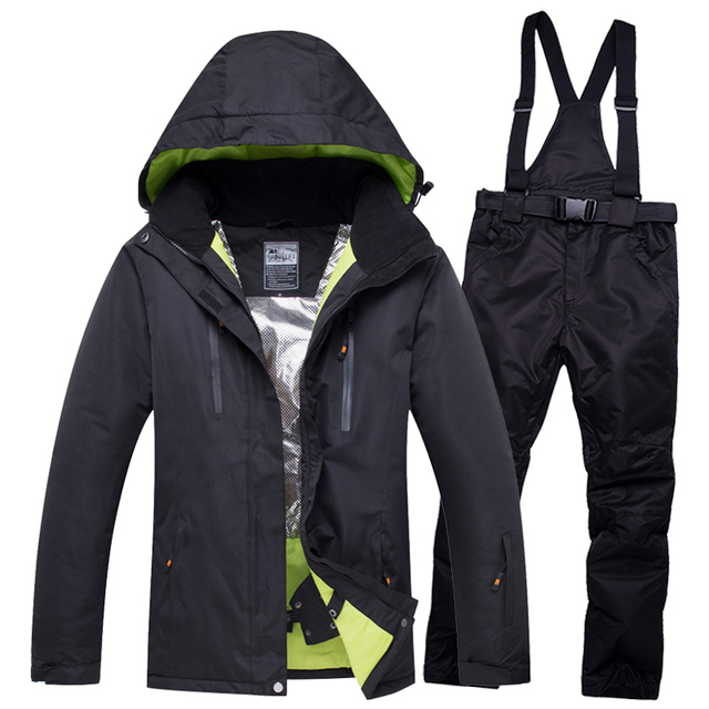 2018 NEW Lover Men And Women Windproof Waterproof Thermal Male Snow Pants  sets Skiing And Snowboarding Ski Suit men Jackets ce73585f4
